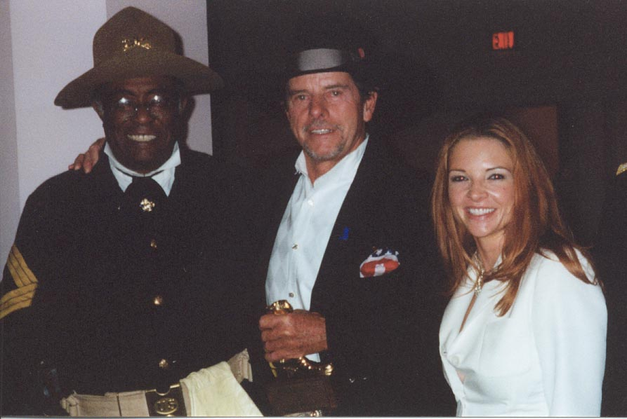 Peter & LoriDawn with one of the Buffalo soldiers