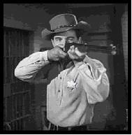 Pointing the rifle as in the Lawman opening