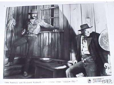 John Russell and Richard Widmark